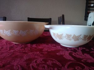 Pyrex sandalwood mixing bowls. 444 &443 for Sale in Tacoma, WA