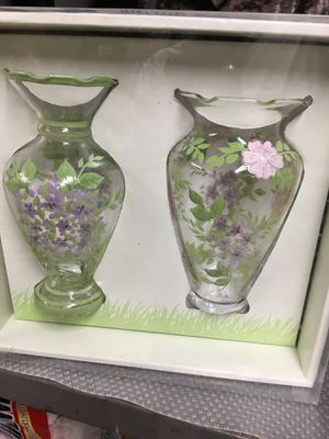 2 hand painted spring bud vases for Sale in Olney, MD