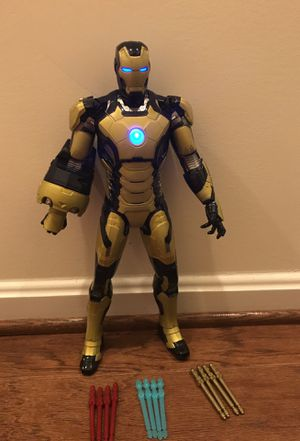 Marvel Iron Man 3 Sonic Blasting 12-Inch Figure with Glow In The Dark Armor for Sale in Ashburn, VA