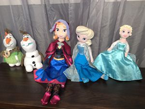 Disney Frozen plushies $30 for all for Sale in Aurora, IL