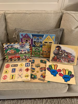 Melissa & Doug Wood Puzzles & Games (8) for Sale in Ladera Ranch, CA