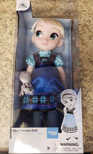 Disney Store Exclusive 16 inch Animator Doll Princess Elsa Frozen Animator's for Sale in Aurora, CO