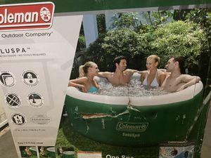 Coleman SaluSpa Inflatable Hot Tub Jacuzzi - Green for Sale in Rockville, MD
