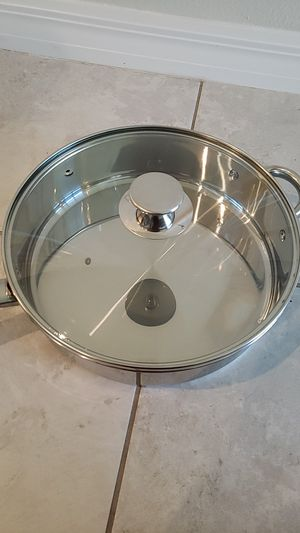 Stainless steel pan with lid for Sale in Tampa, FL