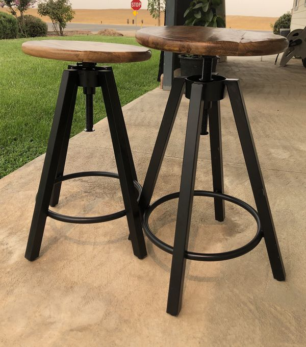 Wooden Metal Stools
