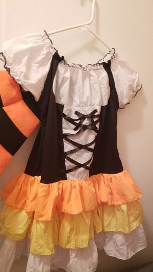 Leg Avenue, Girls Med/ Large Candy corn ,Witch, hat. Halloween costume with hat for Sale in Riverside, CA