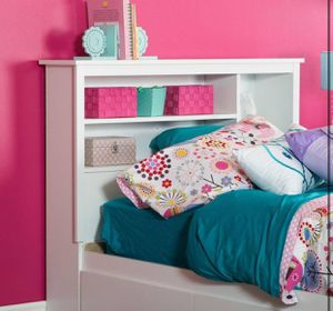 White Twin bed bookcase headboard - New for Sale in Taylor, MI