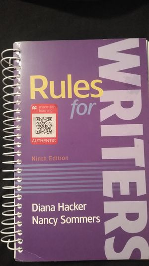 Rules for Writers 9th Edition for Sale in Altadena, CA