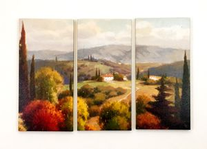 3 piece of nature in fall season canvas art for living room bedroom lobby hallway entrance wall decor for Sale in Seattle, WA