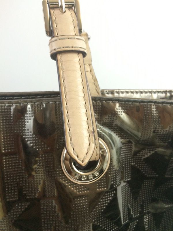 Michael Kors MK signature metallic shiny 2 straps