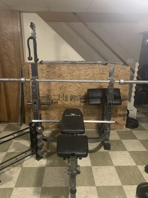 Olympic weight Bench & Weights!!!! for Sale in Livonia, MI