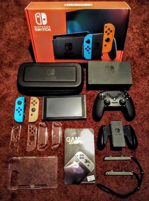 NINTENDO SWITCH WITH EVERYTHING AS PICTURED FIRM PRICE for Sale in Loxahatchee, FL