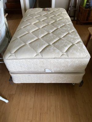 Posturpedic twin bed/box spring/frame for Sale in Burlington, WA