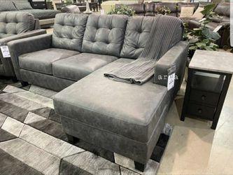 💲39 Down Payment🆕️ Venaldi Gunmetal Sofa Chaise byAshley for Sale in Bailey's Crossroads,  VA