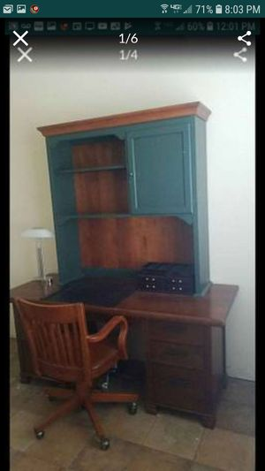 Pottery barn executive desk ethan Allen desk and chair for Sale in Tracy, CA