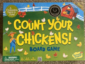 2 Peaceable Kingdom board games: Count Your Chickens and Race to the Treasure for Sale in Seattle, WA