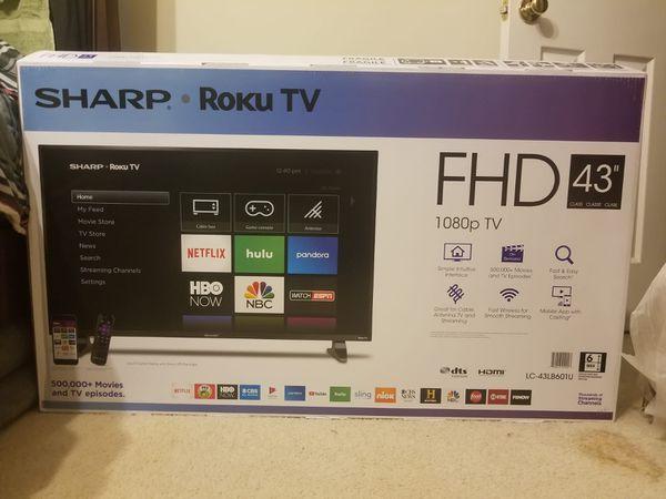 """Sharp Roku TV 43"""""""