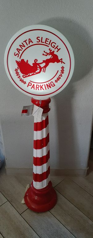 "LED LIGHTED SANTA SLEIGH PARKING SIGN NEW $25 (45"" TALL) for Sale in Las Vegas, NV"