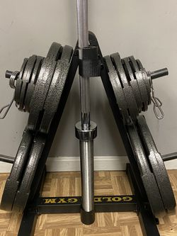 Olympic size 300lbs weight set with bar for Sale in Rockville,  MD