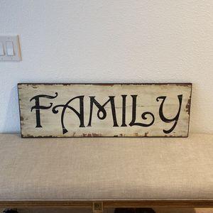"""Rustic / Distressed """"Family"""" Wall Decor for Sale in Coronado, CA"""