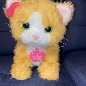 "Hasbro Fur Real Friends Interactive Plush 13"" Ginger Kitty Cat 2012 Works Great for Sale in San Bernardino, CA"