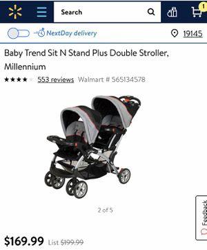 Baby Trend Double Stroller for Sale in Philadelphia, PA