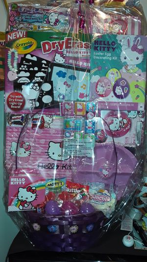 HELLO KITTY EASTER BASKET $25 for Sale in Huntington Park, CA