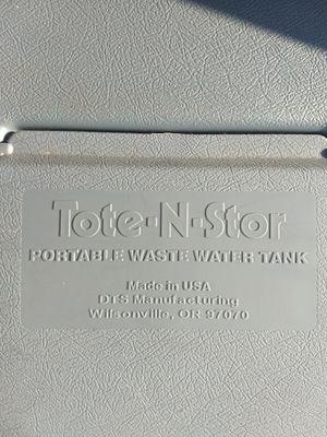Tote-N-Stor 25 Gal Portable Waste Storage Tank RV Camper for Sale in Morrice, MI
