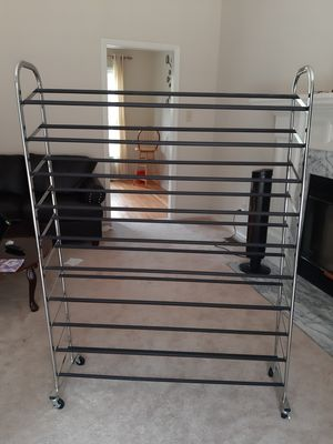Shoe rack with wheels for Sale in Cary, NC