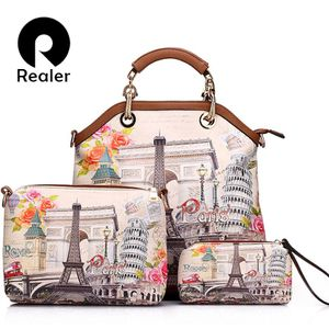 3 pcs printed handbag women large tote bag artificial leather Embroidery shoulder **Need to order take 10 to 20 days *** for Sale in Orlando, FL