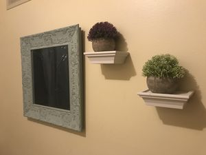 Mirror, two artificial plants for Sale in Sharpsburg, PA