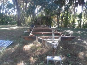 Frame from a house trailer 36 foot dual axel for Sale in Gibsonton, FL