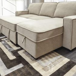 💕Darton Cream Sleeper Sectional with Storage💕🏆39 DOWN 🏆 for Sale in Fort Worth,  TX