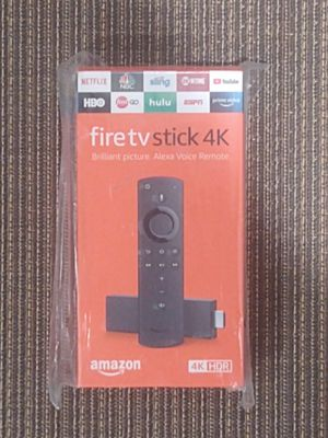 Fire TV Stick 4K streaming device with Alexa built in, Ultra HD, Dolby Vision, includes the Alexa Voice Remote for Sale in Colton, CA