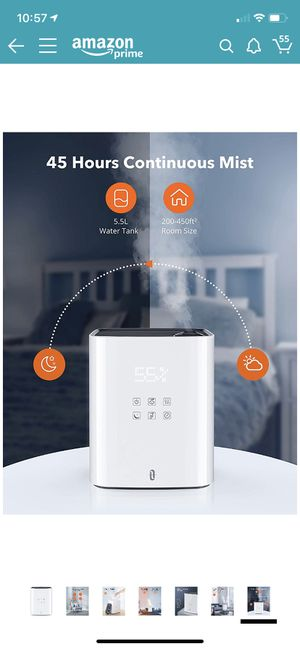 TaoTronics Warm and Cool Mist Humidifiers, Top Fill Humidifier for Bedroom Large Room Baby, Separate Tank, Customized Humidity, Sleep Mode, LED Displ for Sale in Indianapolis, IN