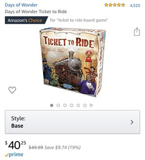 Ticket to ride board game for Sale in Warren, MI