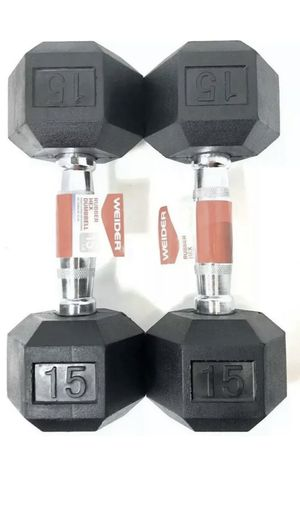 Two 15 lbs Dumbbells for Sale in Bethesda, MD