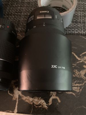 Canon - EF70-300 IS II USM Telephoto Zoom Lens for DSLR Cameras for Sale in Hamden, CT