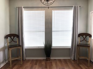 New 2 Panel Pair Light Gray Curtains For Home Decor for Sale in Spring, TX