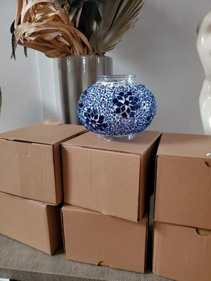 Set of 7 shade/ glass for chandelier, unique *Handmade* brand new in box and never been used for Sale in Laguna Beach, CA