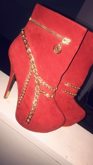 Red High Heel Boots (Size 8) for Sale in Flint, MI