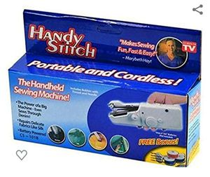 Handy Stitch Handheld Sewing Machine As Seen On Tv - Portable Craft Sewing Machine Cordless Quick Stitch Tool for Sale in South El Monte, CA