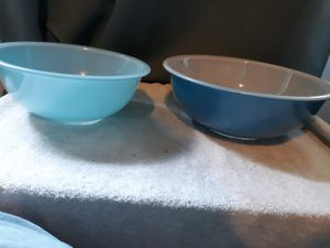 Vintage Pyrex Turquoise Robins Egg Nesting bowls for Sale in Bremen, GA
