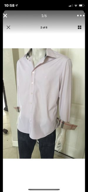 Burberry Pink Shirt size XL for Sale in Fort Lauderdale, FL