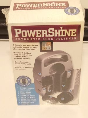 JLR Tools Brand New Sealed Power Shine Automatic Shoe Shine Kit. for Sale in San Antonio, TX