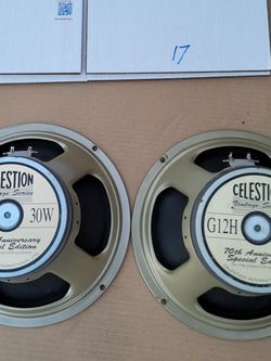 G12H Anniversary 16ohm Guitar Speakers By Celestion - Used But In Proper Working Order for Sale in Norwalk,  CA
