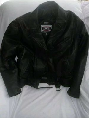 River Roads Leather Motorcycle Jacket Size 40 for Sale in Christiansburg, VA