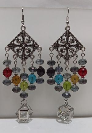 Handmade Pride rainbow dangle earrings for Sale in Eugene, OR