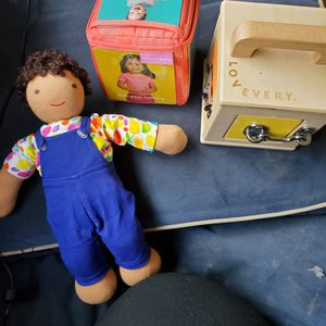 Lovevery gender neutral doll, latchbox & cube for Sale in Manchester, CT