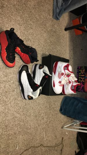 "Jordan 4 alternatives, foam posites,Jordan 13 ""he got game"" for Sale in New Port Richey, FL"